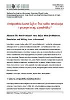 Antipoetika Ivane Sajko: Što ludilo, revolucija i pisanje imaju zajedničko?