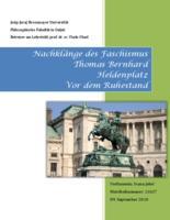 prikaz prve stranice dokumenta Nachklänge des Faschismus: Thomas Bernhard: Heldenplatz, Vor dem Ruhestand