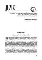 prikaz prve stranice dokumenta Uvodna riječ, Jezik posvećen 90. obljetnici Stjepana Babića