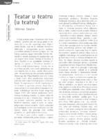 prikaz prve stranice dokumenta Pogled izvana: Teatar u teatru (u teatru) (Boris Senker, Gloriana - Hrvatsko kazalište u Pečuhu)